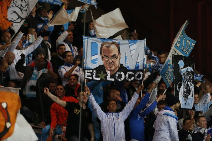 Marcelo Bielsa en banderole au Stade Vélodrome