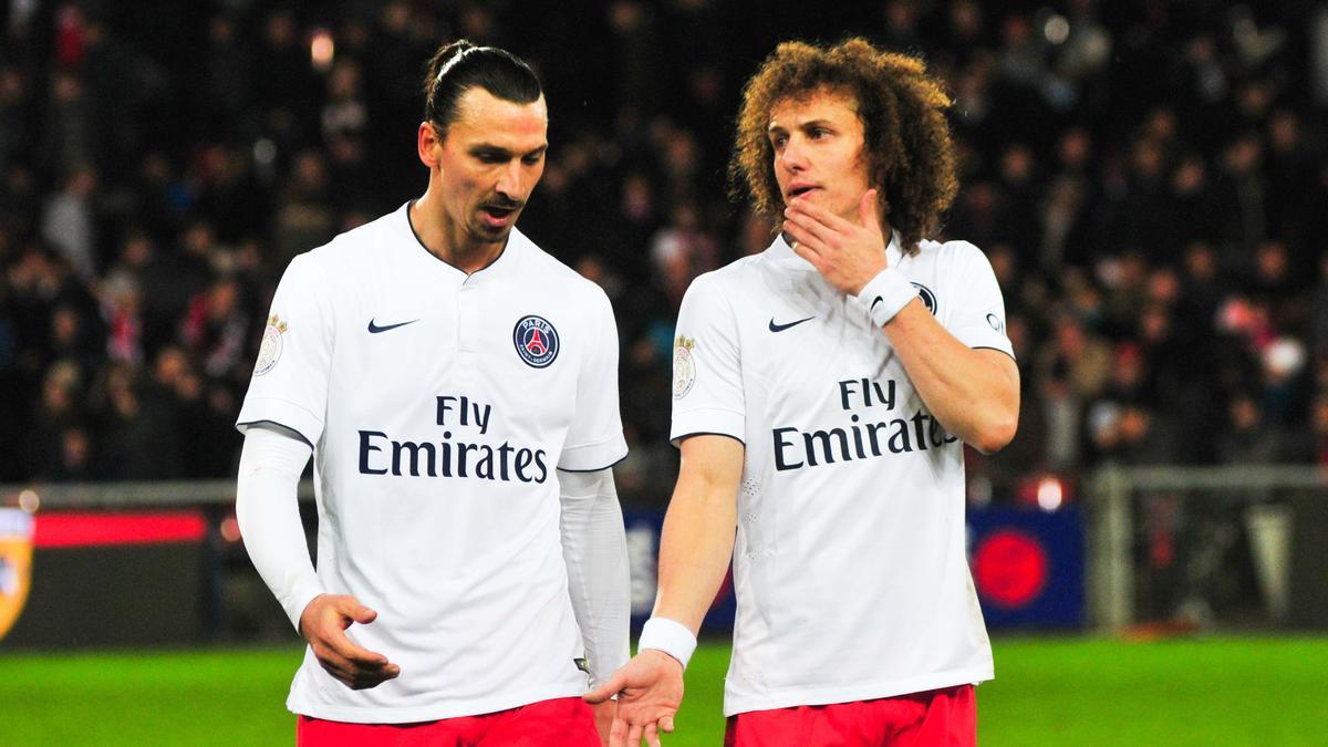Zlatan Ibrahimovic & David Luiz, PSG