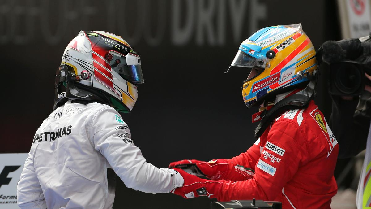 Fernando Alonso et Lewis Hamilton