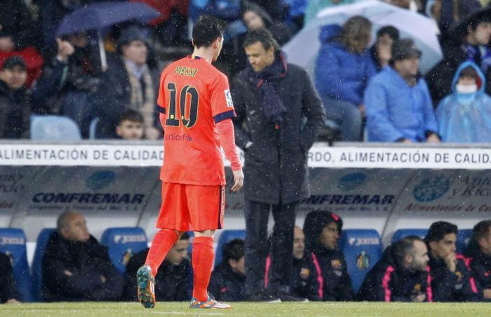 Luis Enrique et Lionel Messi, Barcelone