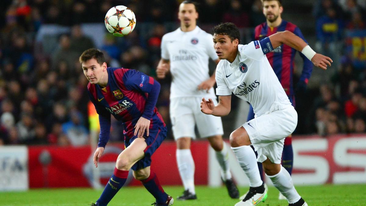 Lionel Messi & Thiago Silva