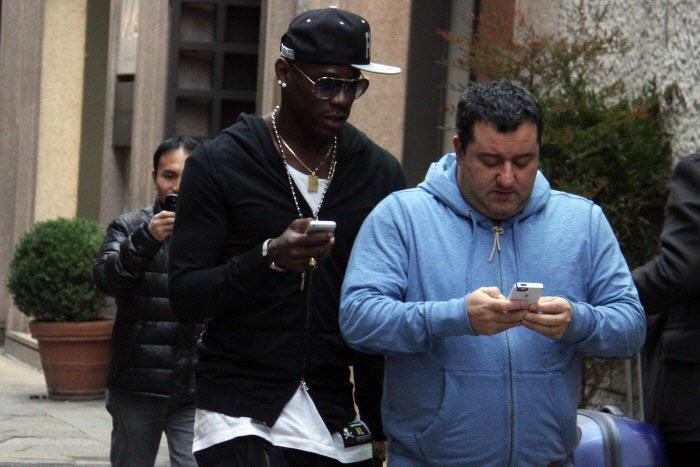 Mario Balotelli et Mino Raiola