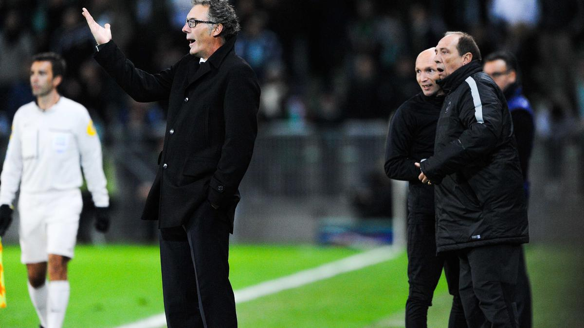 Laurent Blanc avec le PSG