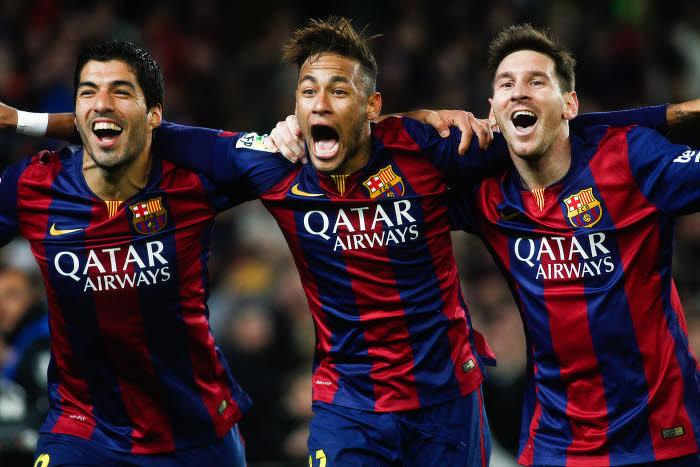 Luis Suarez, Neymar, Lionel Messi, Barcelone