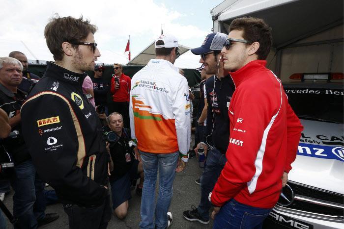 Romain Grosjean et Jules Bianchi, en 2013