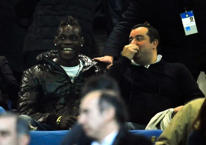 Mario Balotelli et Mino Raiola, en 2010