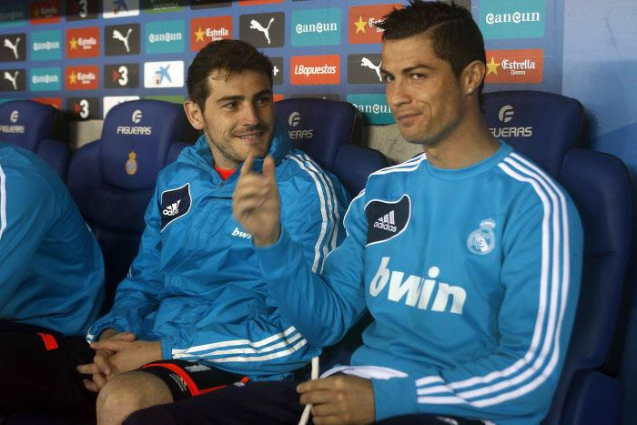 Iker Casillas et Cristiano Ronaldo, Real Madrid