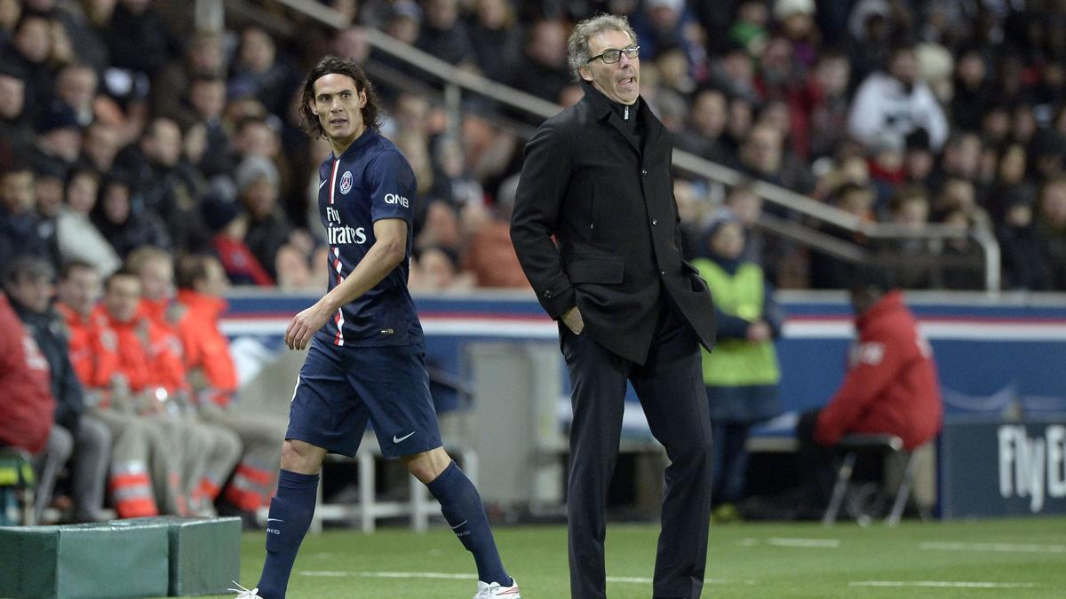 Edinson Cavani et Laurent Blanc, PSG