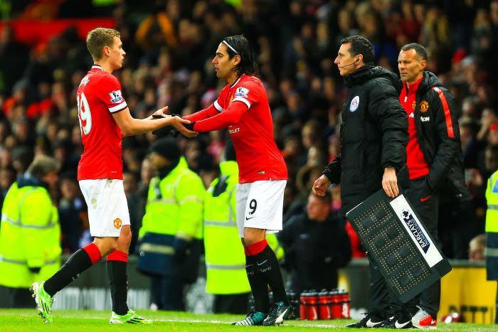 James Wilson et Radamel Falcao, Manchester United