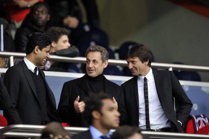 Nasser Al-Khelaïfi, Nicolas Sarkozy, Leonardo, PSG