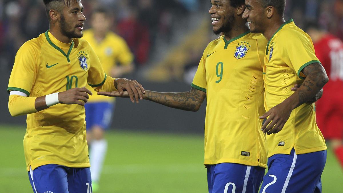 Neymar et Danilo, Brésil