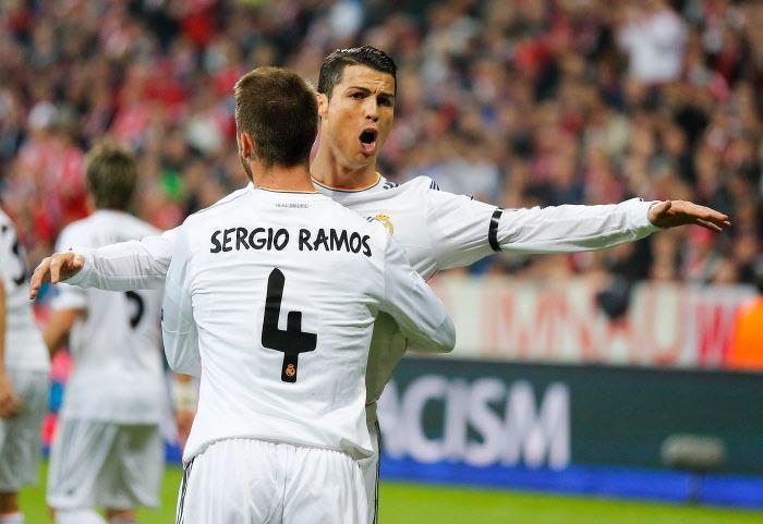 Sergio Ramos et Cristiano Ronaldo, Real Madrid
