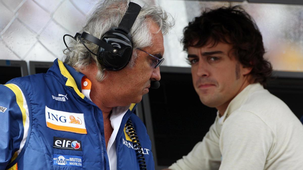 Fernando Alonso et Flavio Briatore