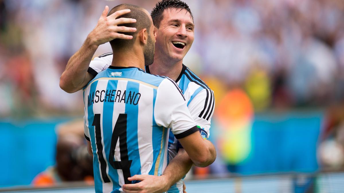 Javier Mascherano et Lionel Messi