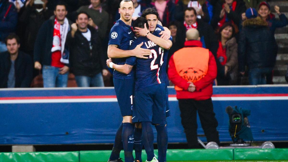 Zlatan Ibrahimovic - Edinson Cavani - Ezequiel Lavezzi, PSG