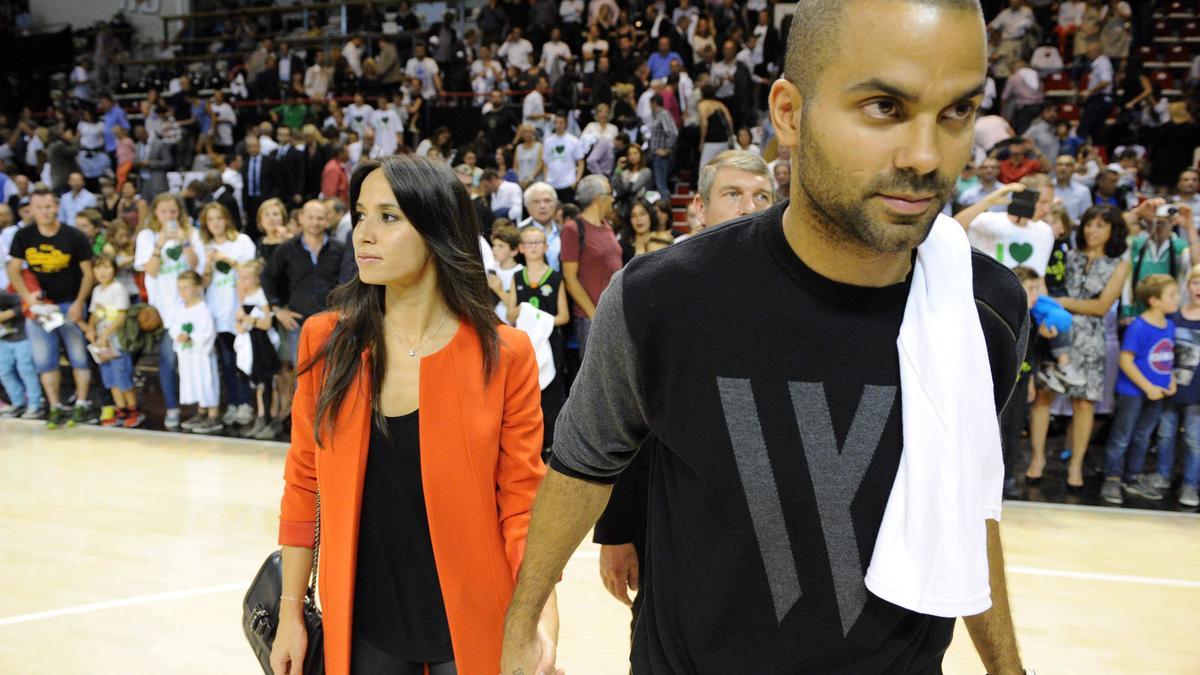 Tony Parker et sa femme