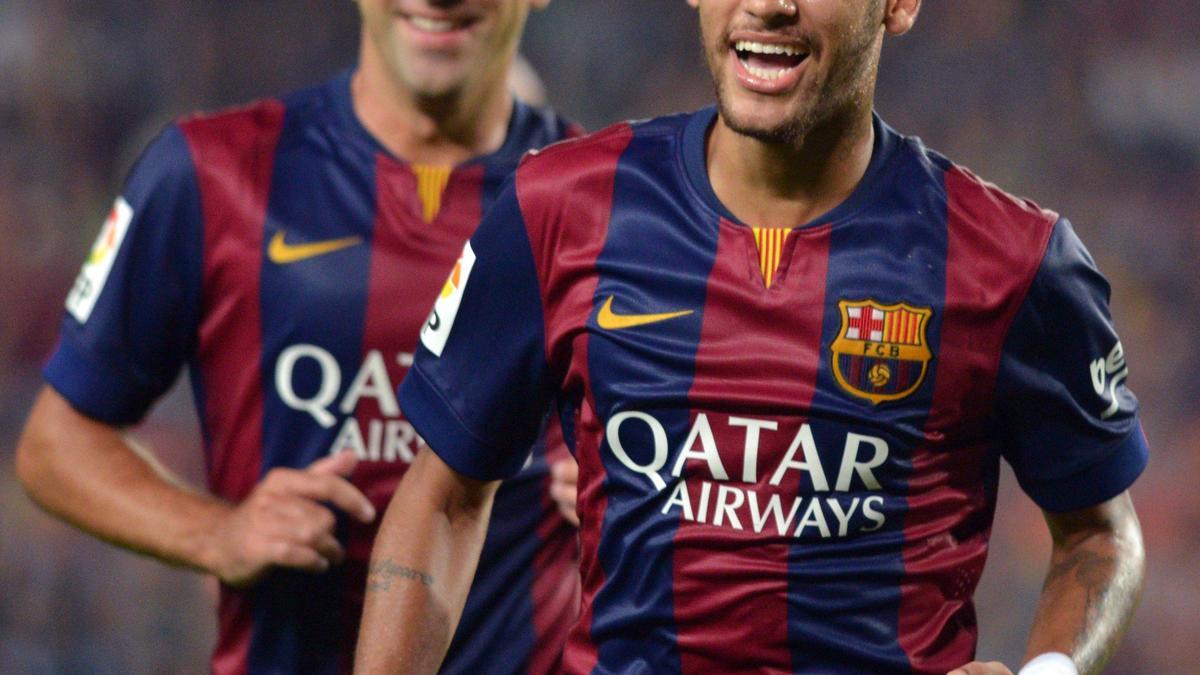 Neymar et Xavi, Barcelone
