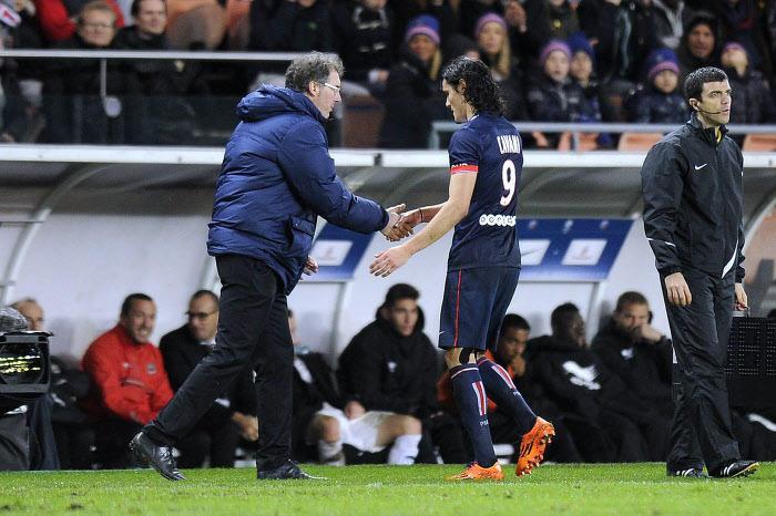Laurent Blanc, Edinson Cavani, PSG