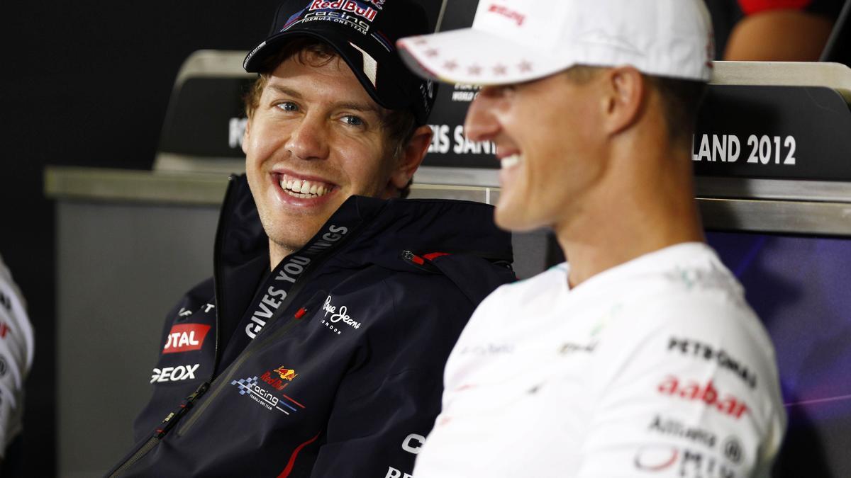 Sebastian Vettel et Michael Schumacher