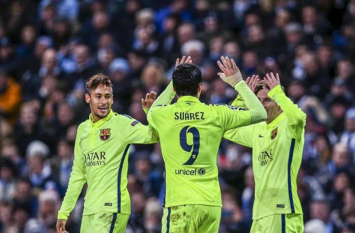Neymar, Luis Suarez et Lionel Messi, Barcelone