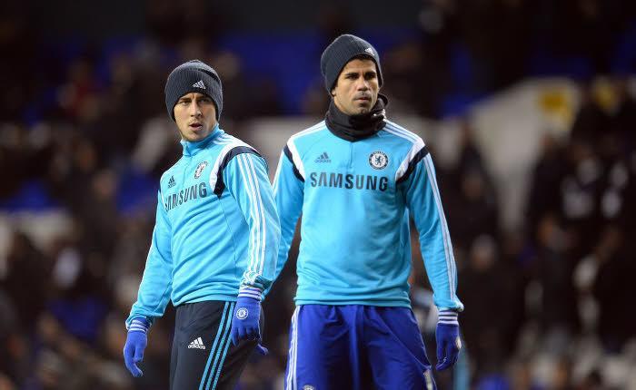 Diego Costa, Eden Hazard, Chelsea