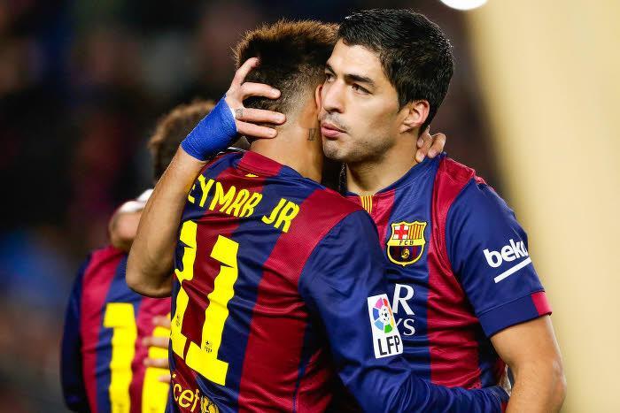 Neymar et Luis Suarez, Barcelone