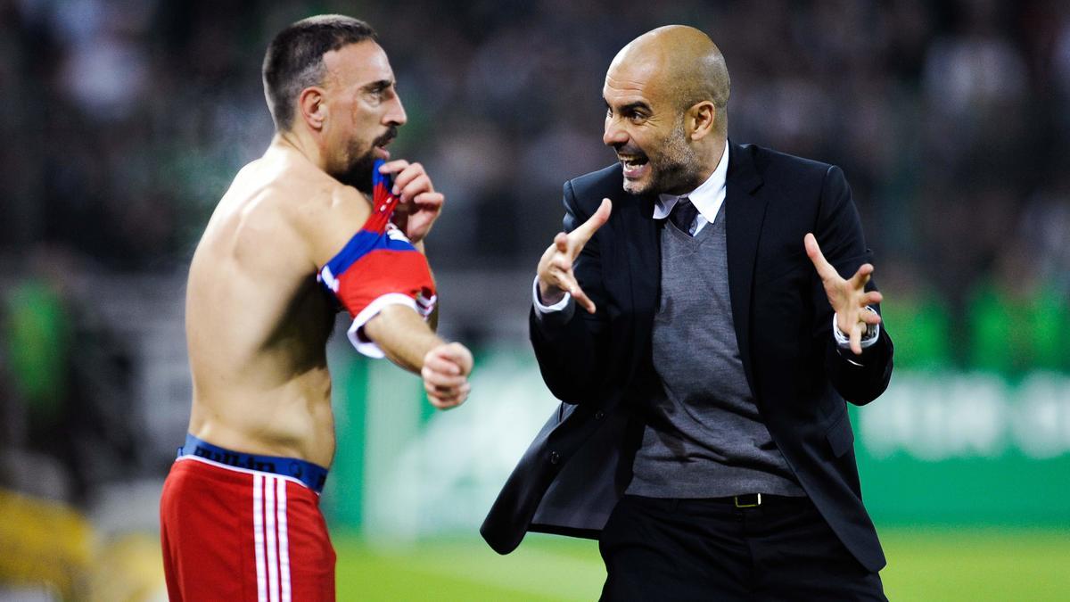 Franck Ribéry et Pep Guardiola, Bayern Munich