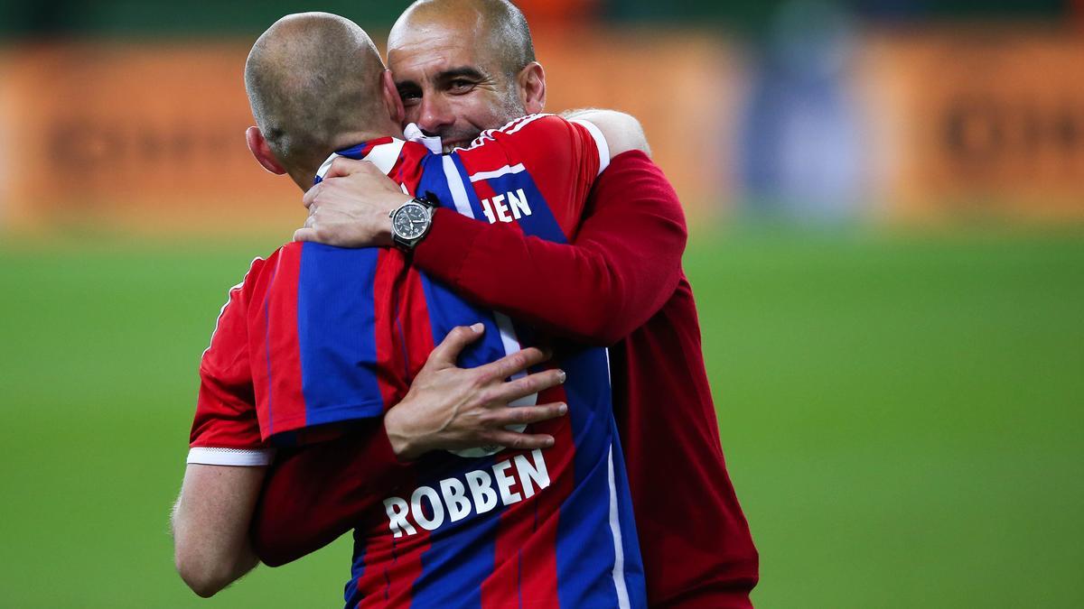 Arjen Robben & Pep Guardiola, Bayern Munich