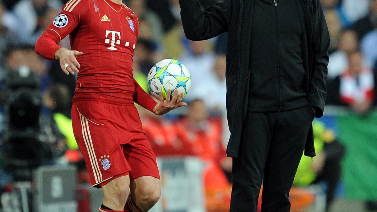 Arjen Robben & José Mourinho