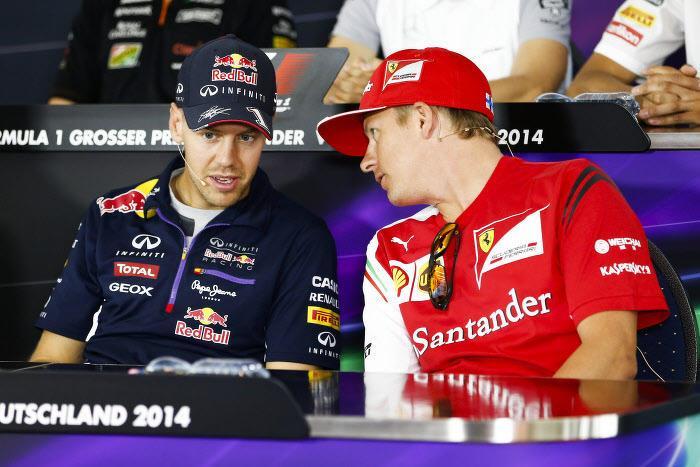 Sebastian Vettel, Kimi Räikkönen, Ferrari