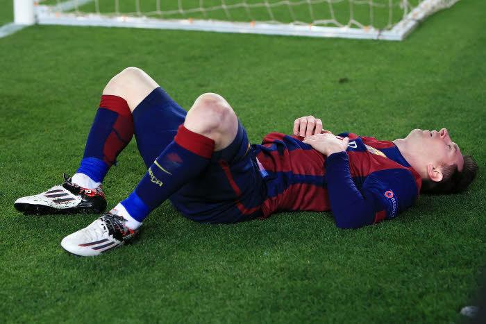 Barcelone : Le cliché inquiétant du pied droit de Lionel Messi