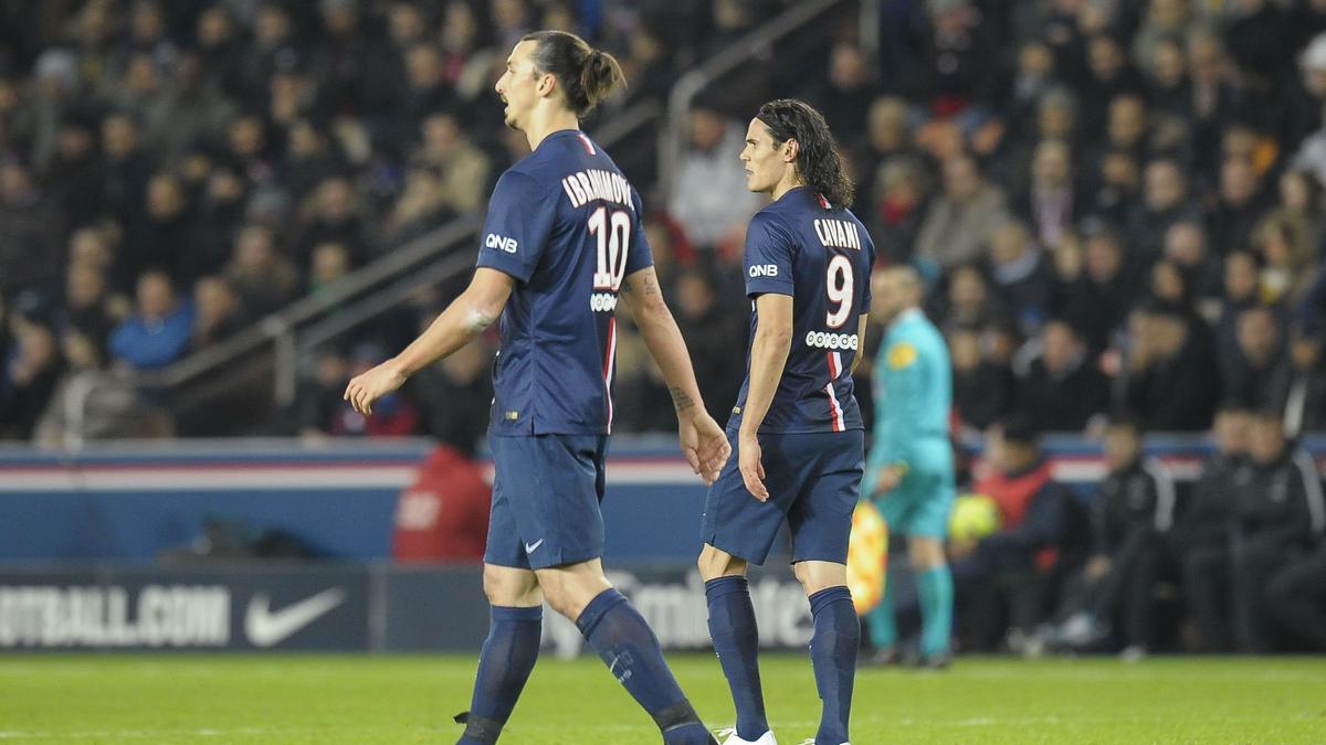 Zlatan Ibrahimovic - Edinson Cavani, PSG