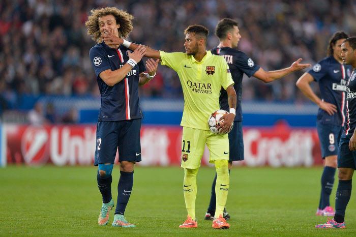 David Luiz et Neymar