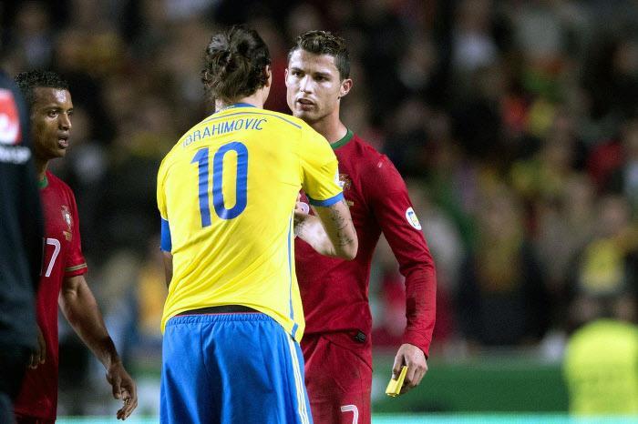 Zlatan Ibrahimovic et Cristiano Ronaldo