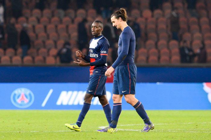Blaise Matuidi et Zlatan Ibrahimovic, PSG