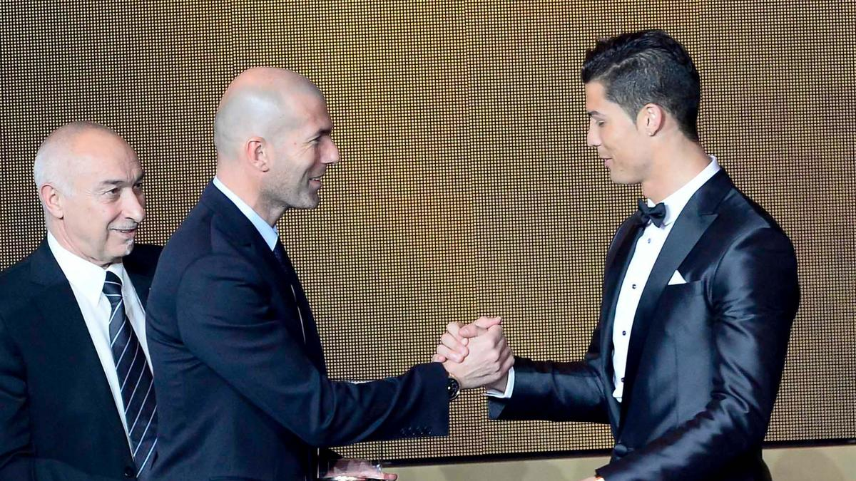 Zinedine Zidane et Cristiano Ronaldo, Real Madrid