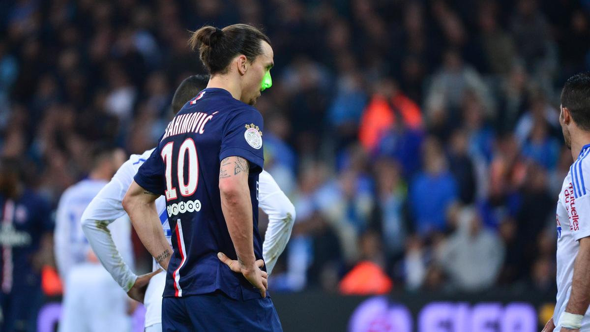 Le molard de Zlatan Ibrahimovic dans les couloirs du Stade Vélodrome