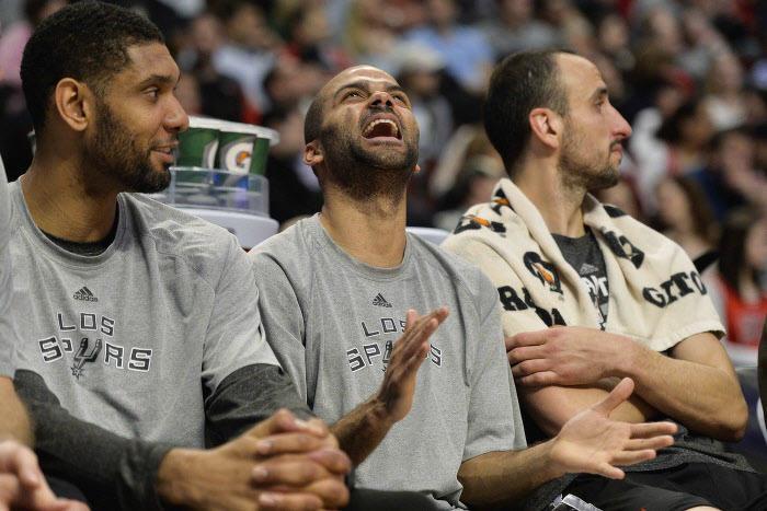 Parker, Duncan, Ginobili, San Antonio Spurs