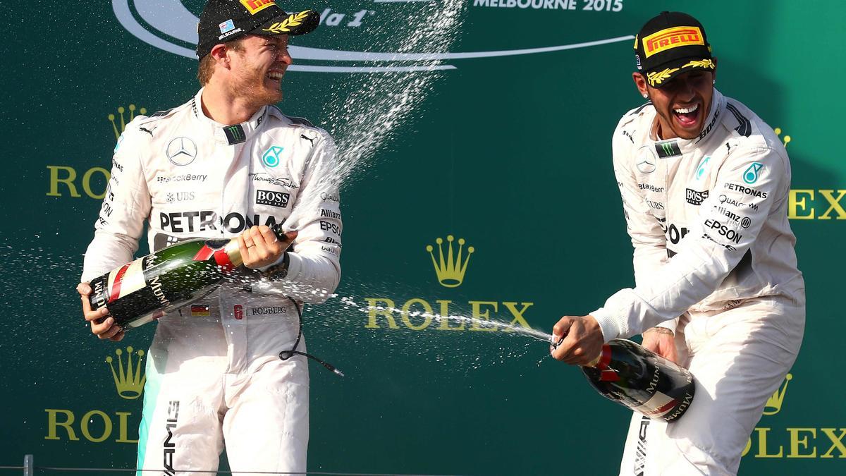 Lewis Hamilton et Nico Rosberg, Mercedes