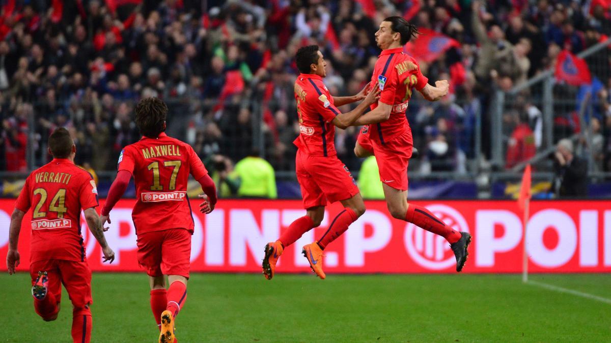 Zlatan Ibrahimovic et Marquinhos, PSG