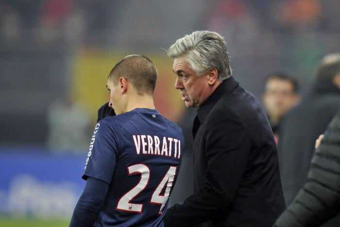 Marco Verratti, Carlo Ancelotti, PSG