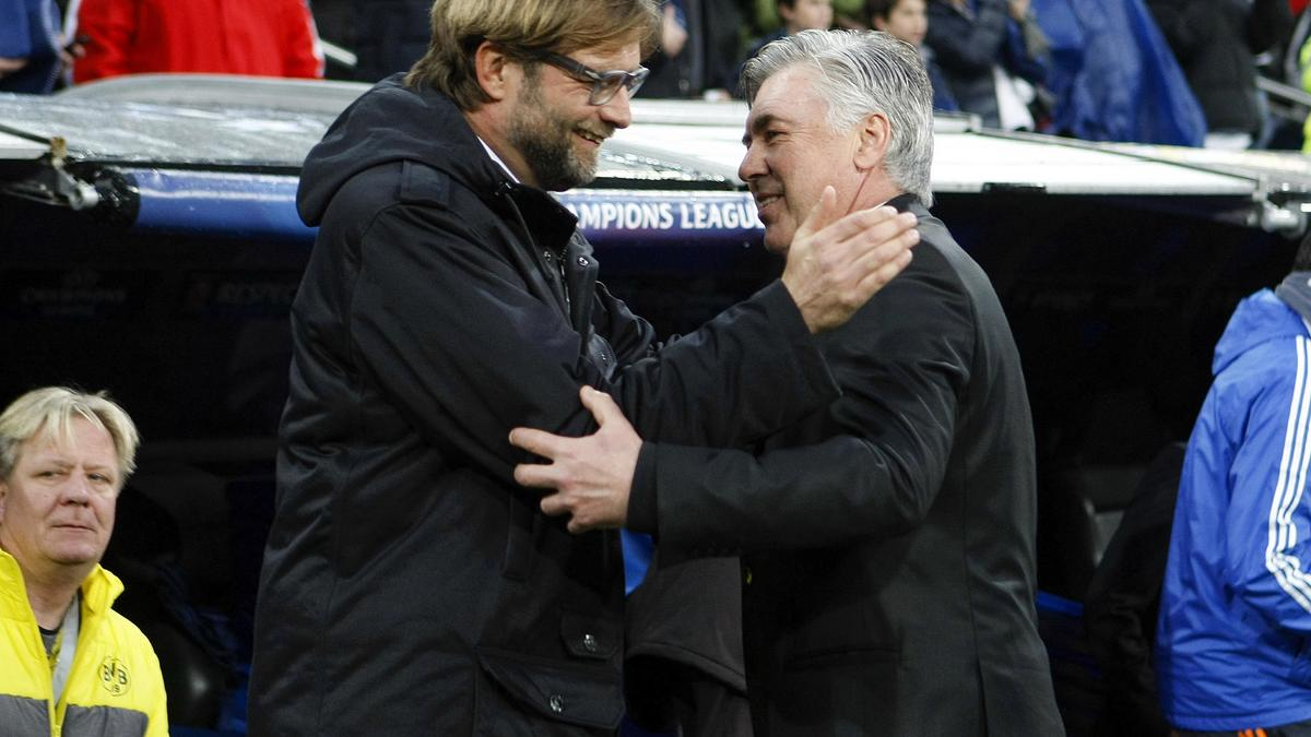Carlo Ancelotti et Jürgen Klopp