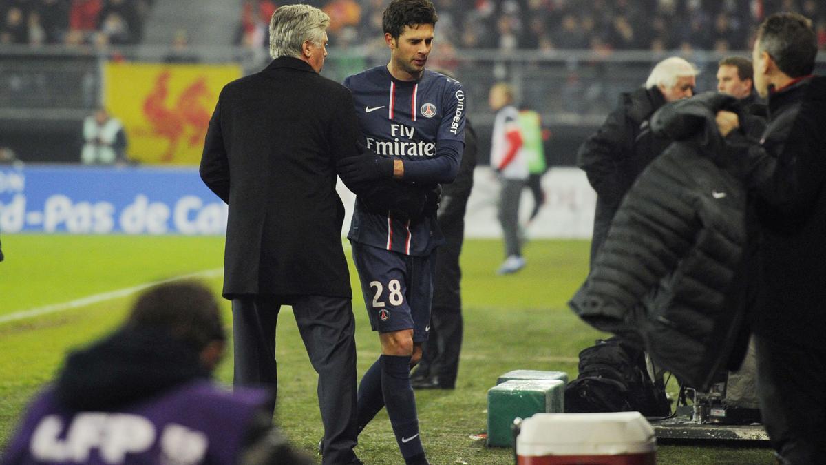 Thiago Motta & Carlo Ancelotti, PSG