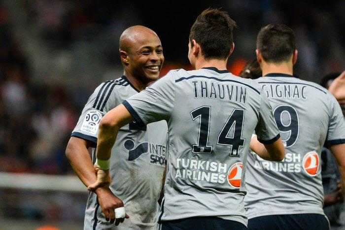 Florian Thauvin, André Ayew, OM