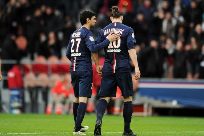 Zlatan Ibrahimovic, Javier Pastore, PSG