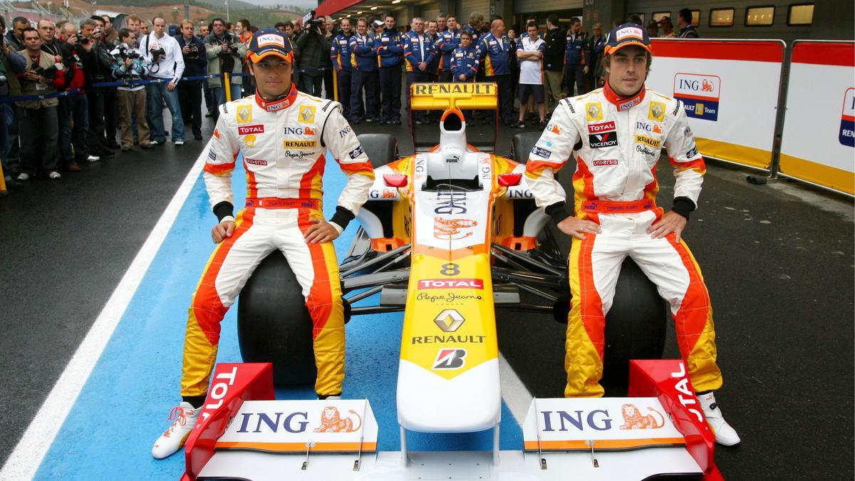 Fernando Alonso et Nelson Piquet Jr.