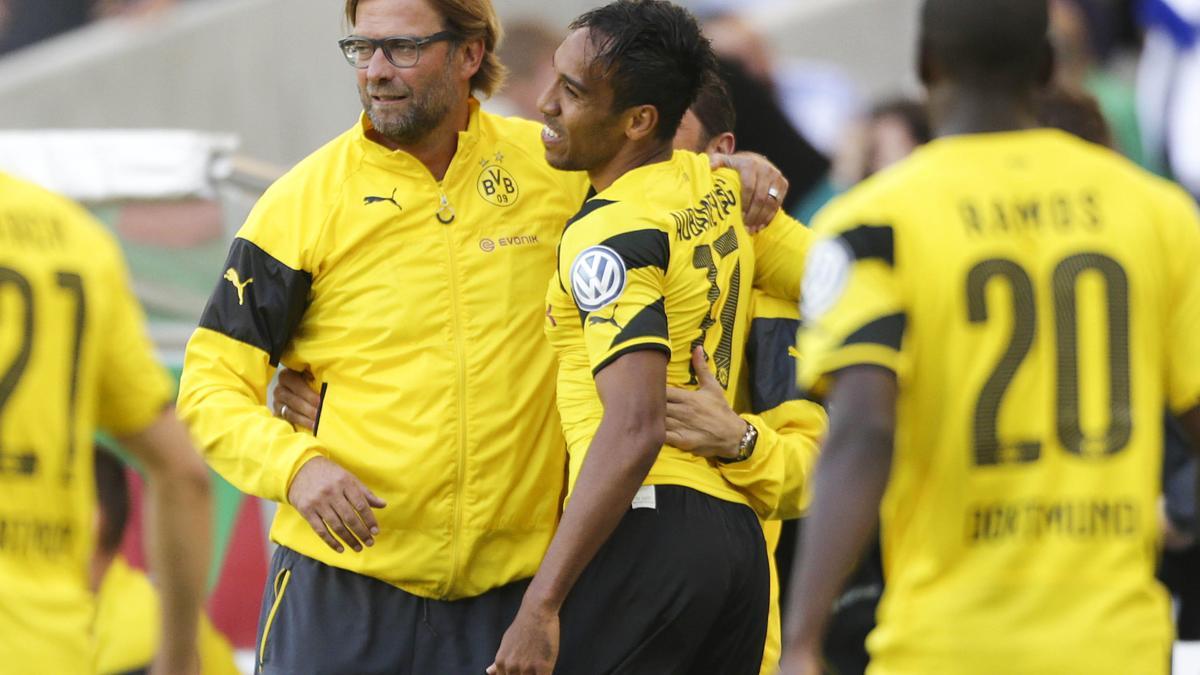 Jürgen Klopp et Pierre-Emerick Aubameyang, Borussia Dortmund