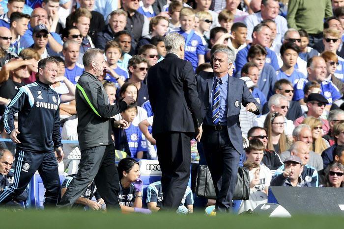 Arsène Wenger et José Mourinho