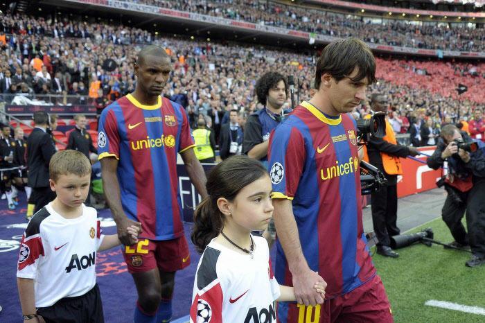 Eric Abidal, Lionel Messi, Barcelone