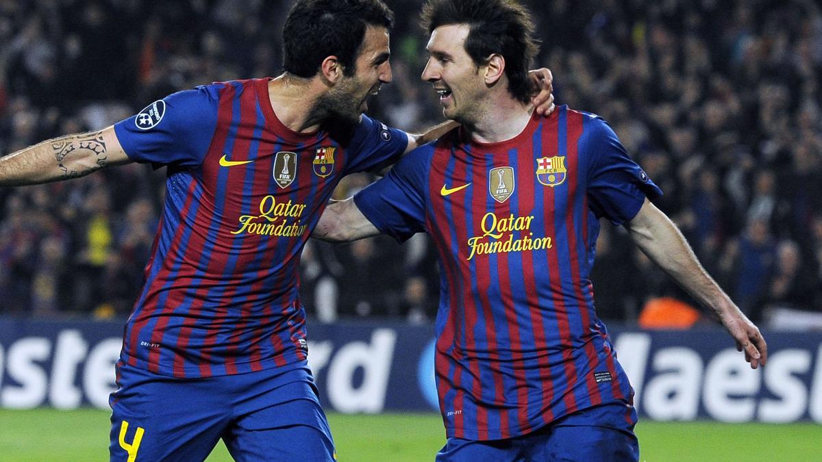 Cesc Fabregas et Lionel Messi, Barcelone